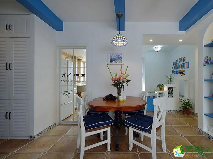 >> 地中海風格110平米三室兩廳裝修效果圖--鉑特裝飾