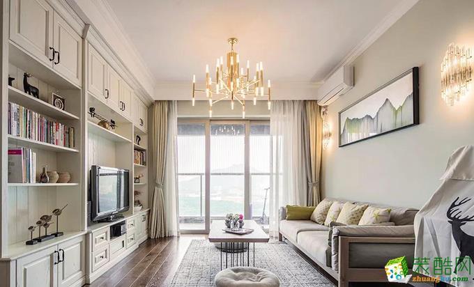 现代简约风格100平米两室两厅装修效果图--铂特装饰