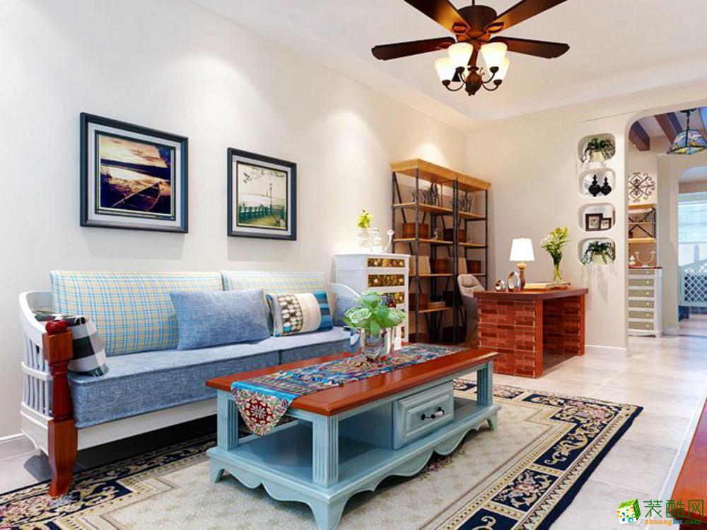 长沙生活家装饰-湖湾世景地中海两居室装修效果图