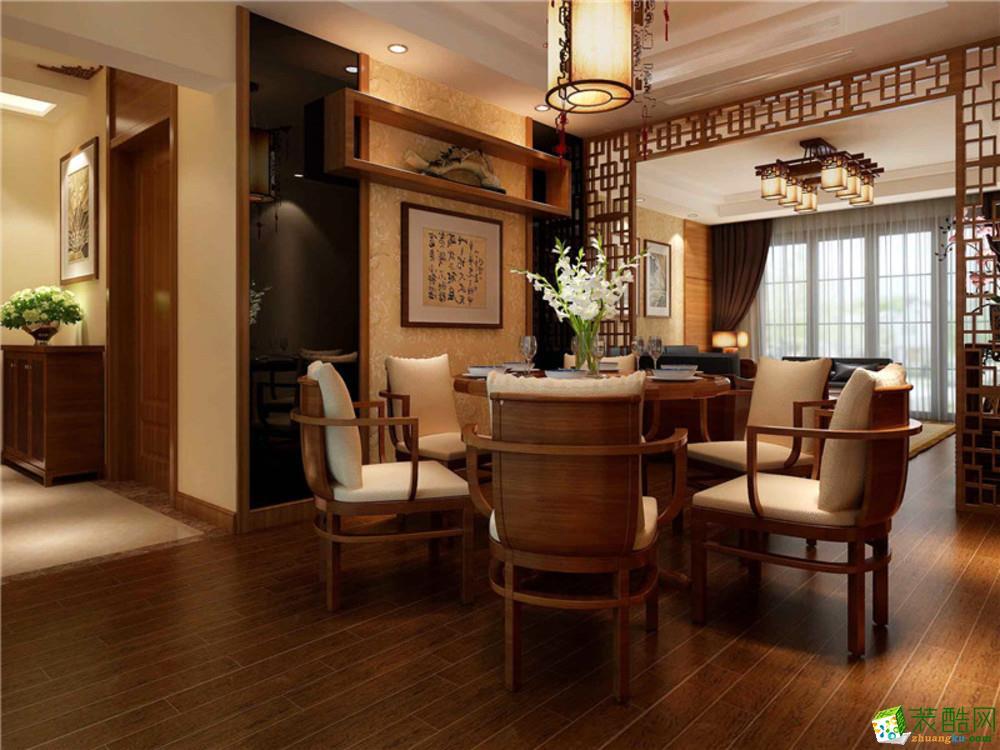 长沙生活家装饰-天晟海拔东方中式三居室装修效果图