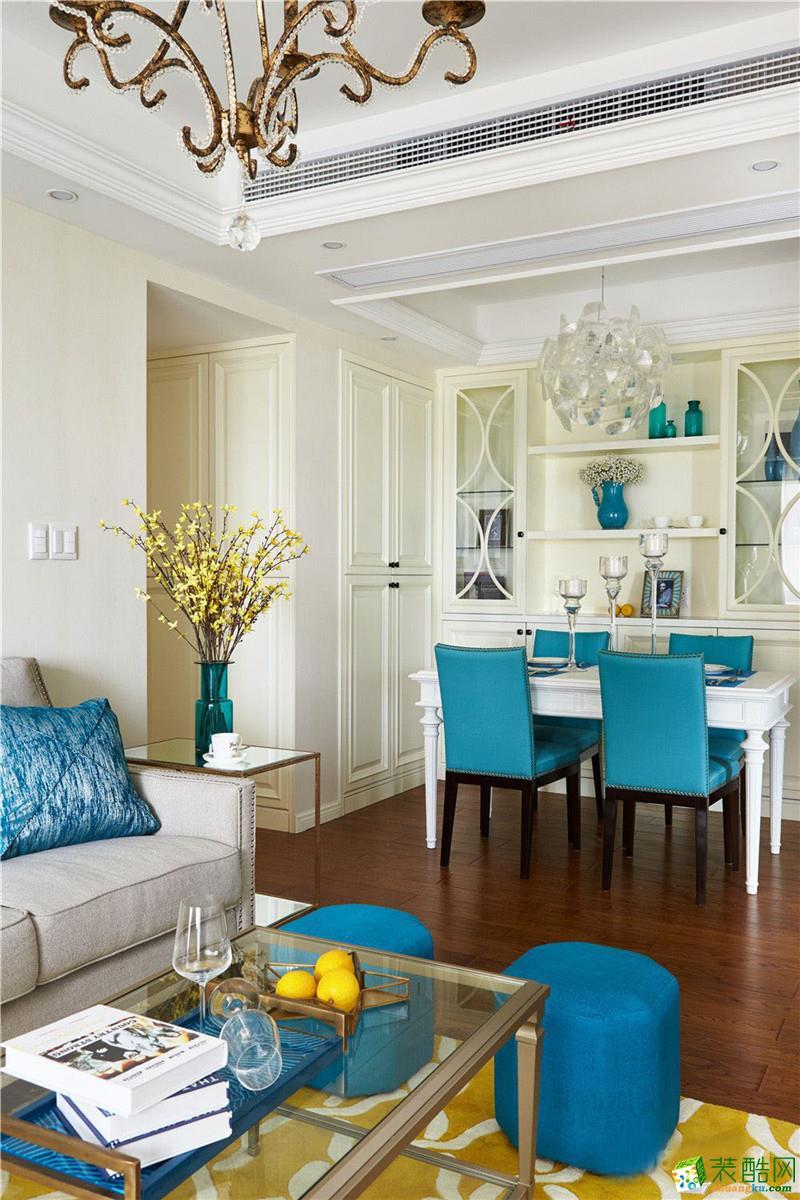 长沙生活家装饰-五矿万境蓝山美式两居室装修效果图