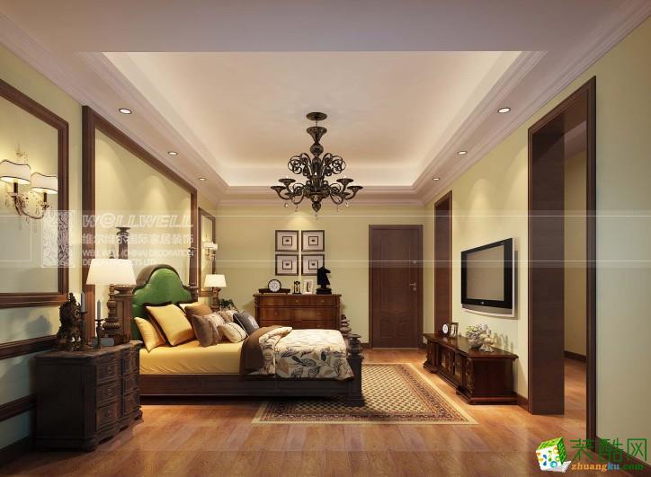 新中式风格309平米别墅住宅装修效果图--维尔维尔装饰