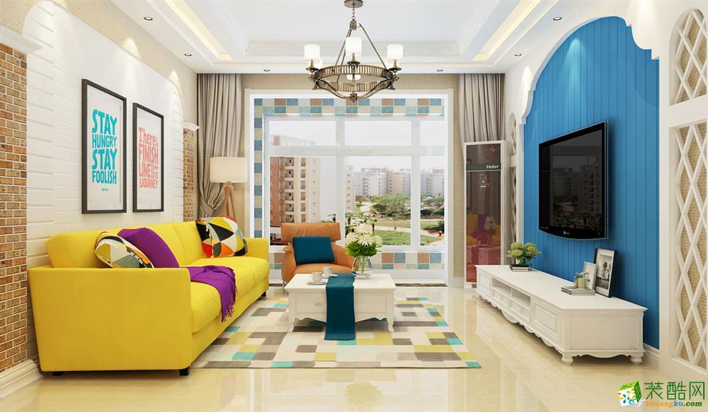 田园风格136平米三室两厅装修效果图--德本装饰