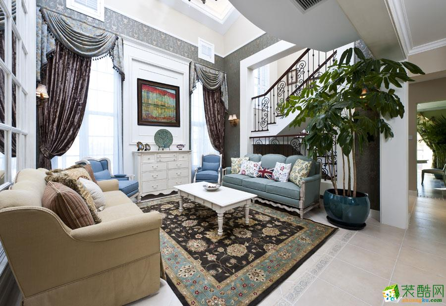 地中海风格136平米三室两厅装修效果图--西港装饰