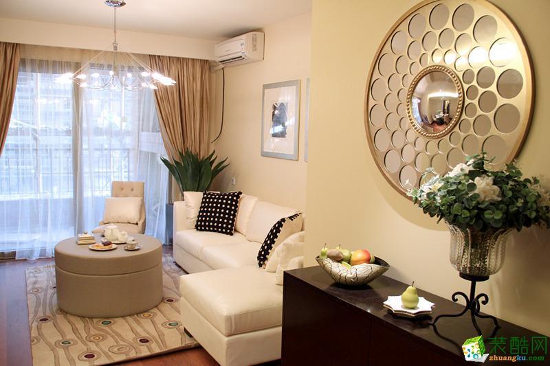 现代简约风格72平米两室两厅装修效果图--爱特装饰