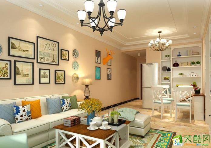 宜春亦格装饰-富园小区美式两居室装修效果图