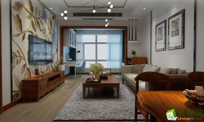 宜春亦格装饰-世博华城中式风格两居室装修效果图