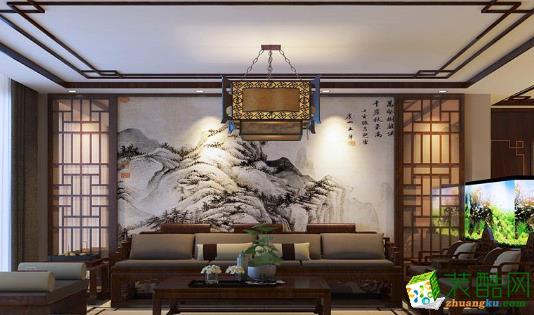 榆林市恒立源装饰-广济名苑中式风格两居室装修效果图