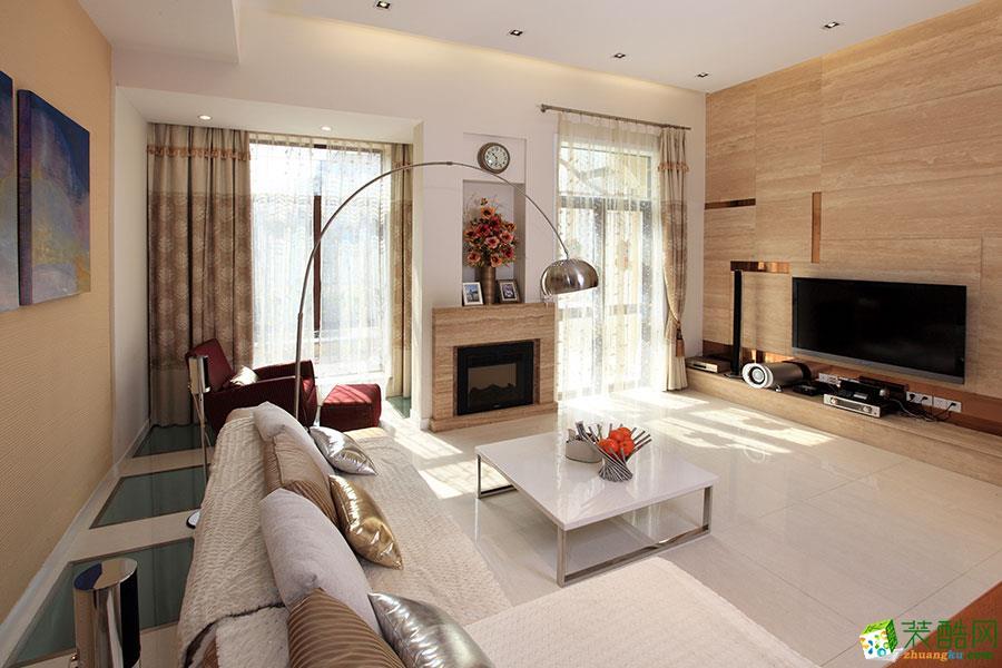 现代简约风格103平米两室两厅装修效果图--大晶装饰