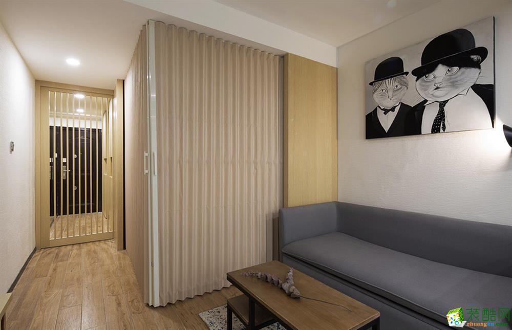 日式风格130平米三室两厅装修效果图--大中发装饰