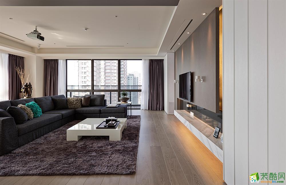 现代简约风格136平米三室两厅装修效果图--新空间装饰