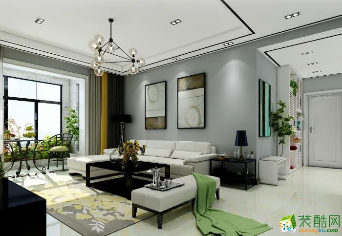 苏南奇海装饰-庆祥苑简约两居室装修效果图