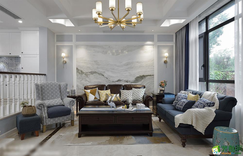 欧式风格126平米三室两厅装修效果图--天地和装饰