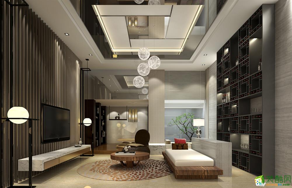 现代简约风格206平米跃层住宅装修效果图--星艺装饰