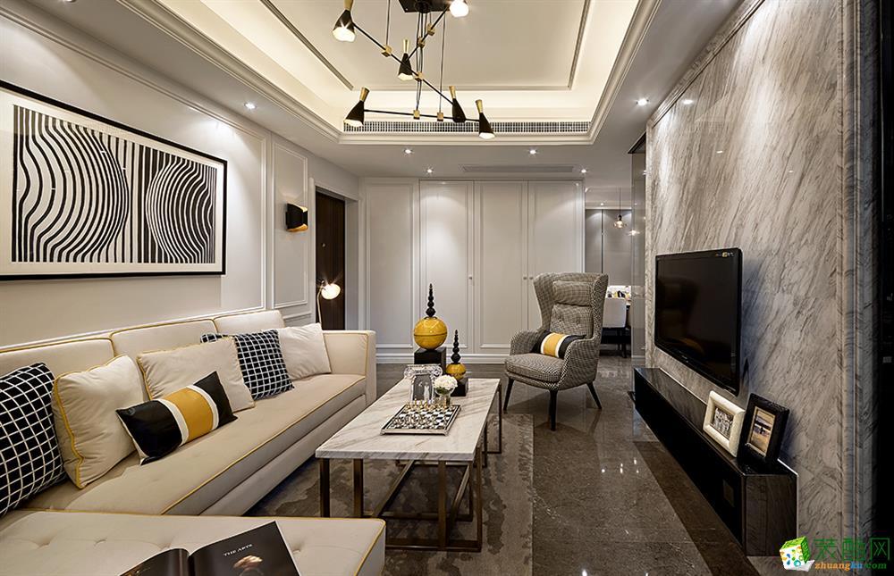 现代简约风格三室两厅118平米装修案例图--星艺装饰