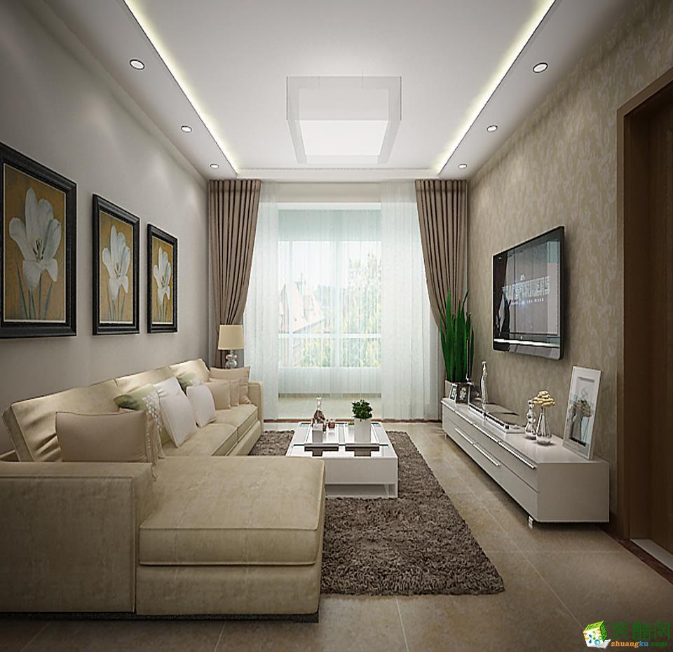 跃华宏安建筑装饰-永乐小区简约两居室装修效果图