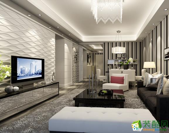 【武汉生活家】碧桂园125方现代风格三居室装修设计效果图