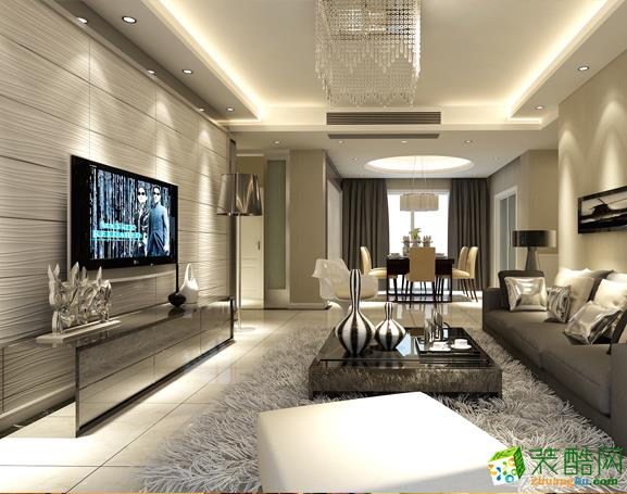 【武汉生活家装饰】圣特立138方现代风格四居室装修效果图
