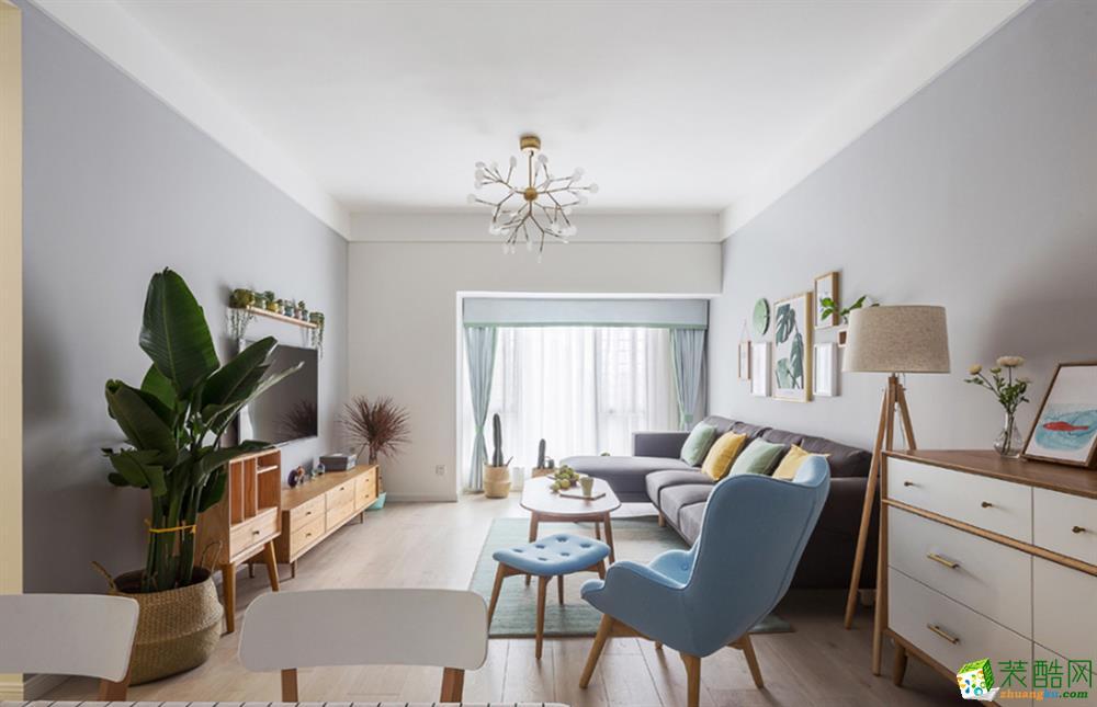 北欧风格138平米三室两厅装修实景案例图赏析--唯意装饰