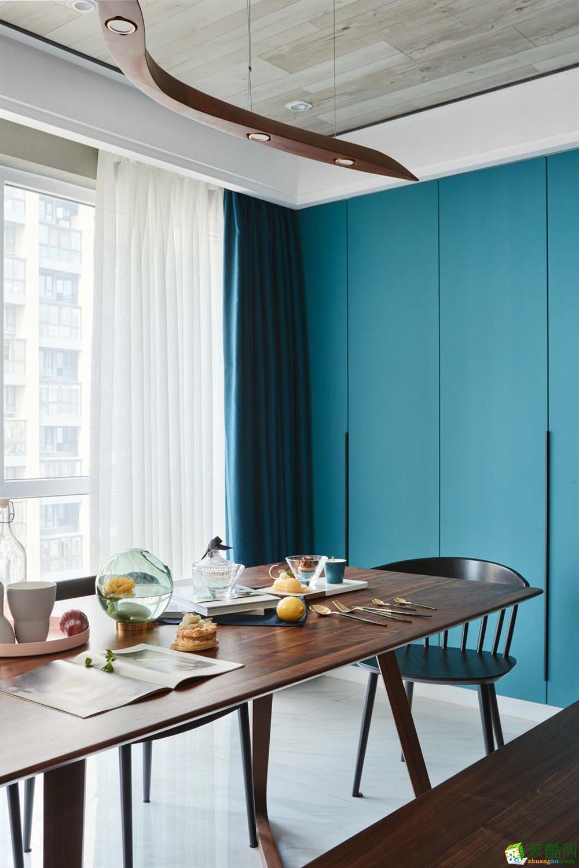 怀化龙城装饰-现代简约两居室装修效果图