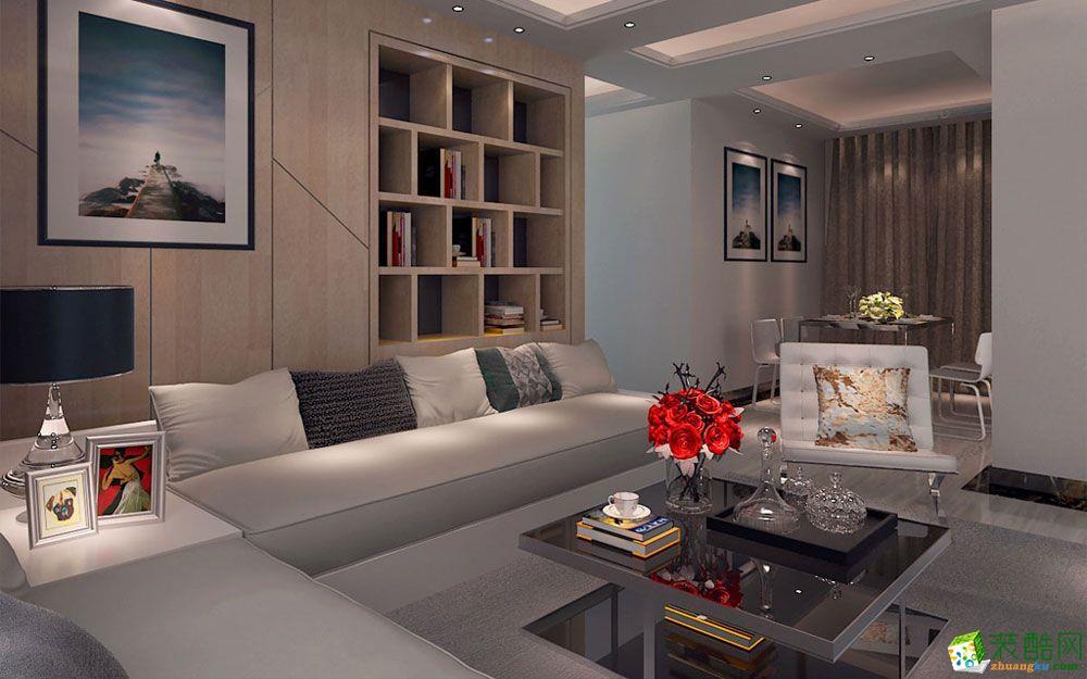 【北京龙发装饰】嘉和城温莎北郡现代简约117平米四居室