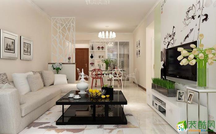 阳春市华银装饰- 银城广场简约风格两居室装修效果图