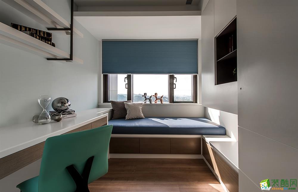現代簡約風格136平米四室兩廳裝修實景案例圖--歐潤裝飾