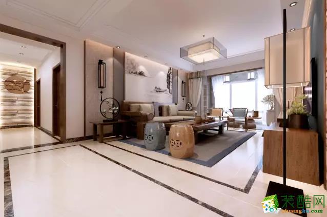 【九木堂装饰】155�O原木中式风格装修效果图