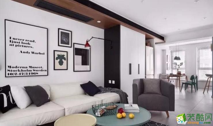 禹州市无界装饰-颍园小区欧式两居室装修效果图