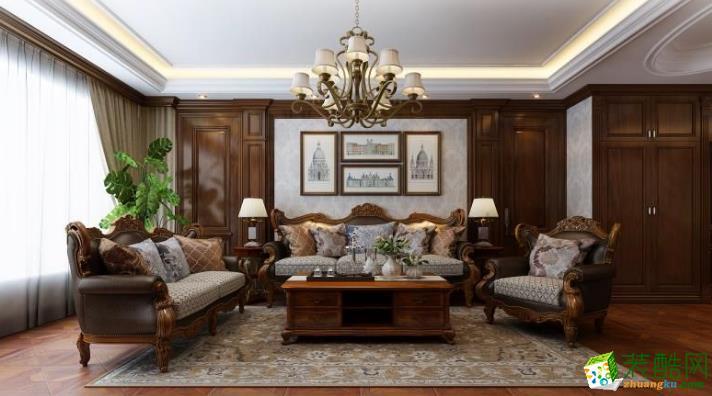 许昌市昱博装饰-- 金域蓝湾美式两居室装修效果图