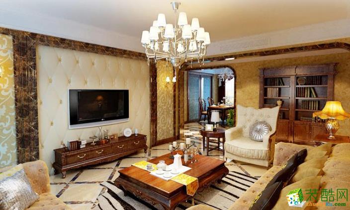 许昌三维装饰-上东国际欧式两居室装修效果图