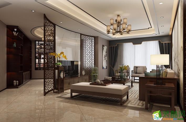 鄢陵县圣梵装饰-康桥半岛中式装修效果图