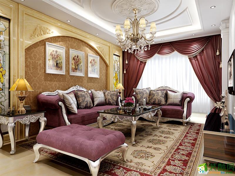 鄢陵县鑫盛源装饰-莱茵河畔欧式两居室装修效果图