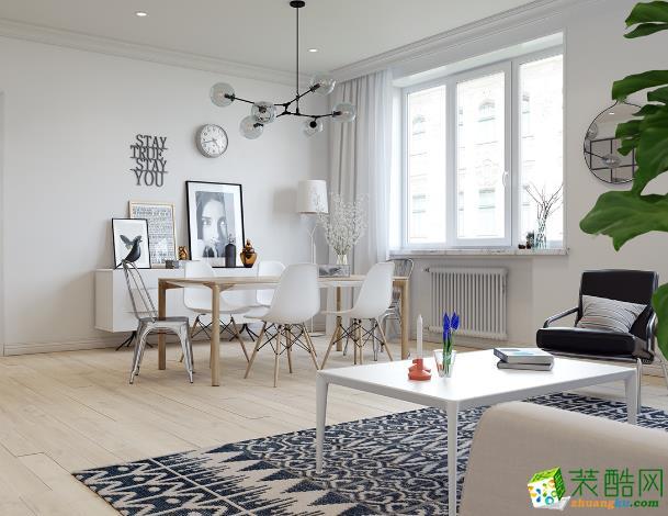 长沙名匠装饰-时代倾城北欧两居室装修效果图