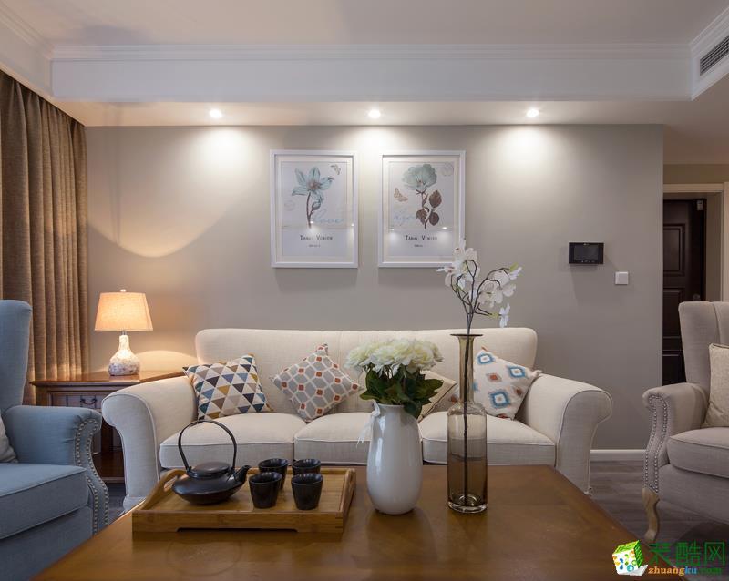长沙金空间装饰-保利麓谷林语美式两居室装修效果图