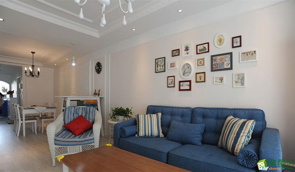 現代簡約風格110平米三室兩廳裝修實景案例--尚層裝飾