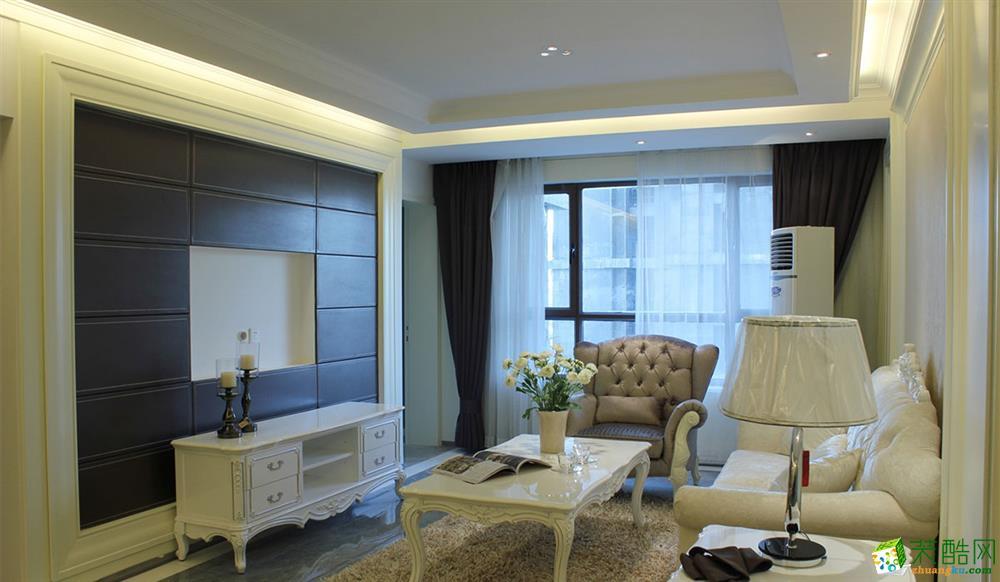 简欧风格138平米三室两厅装修实景案例图--尚层装饰