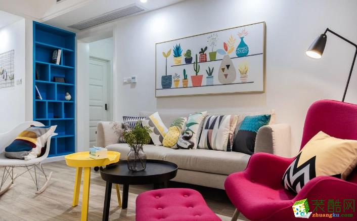 玉林市满堂红装饰-  金茂大厦欧式两居室装修效果图