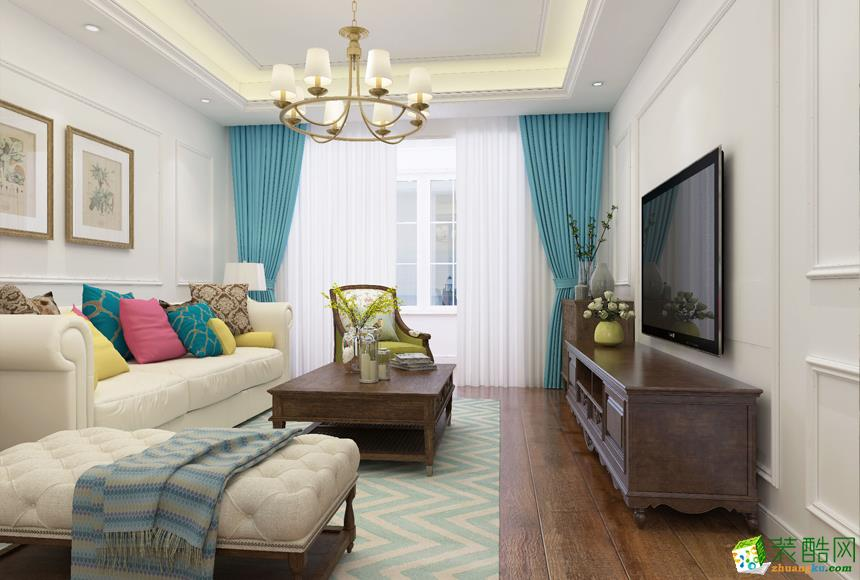长沙居众装饰-梅溪湖美式两居室装修效果图