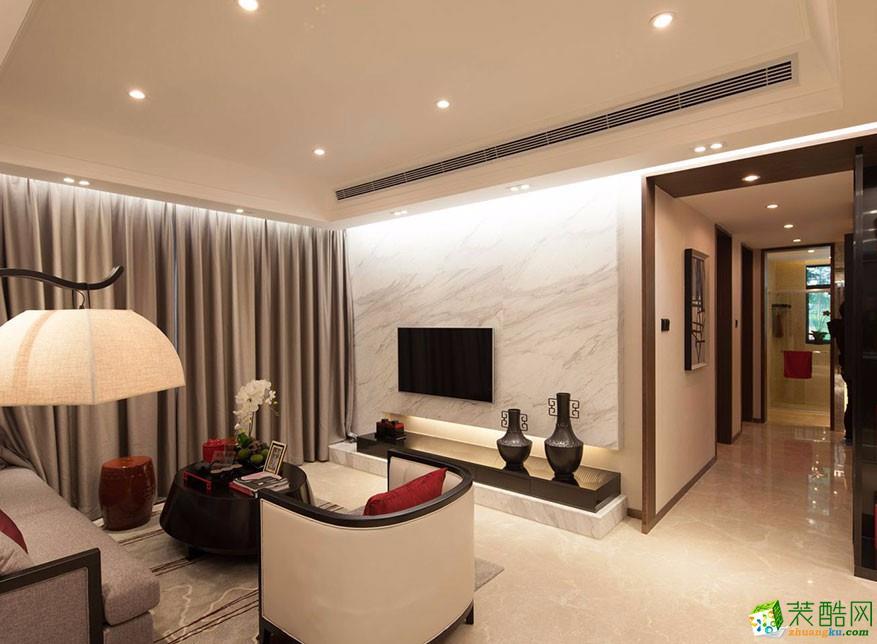 欧式风格104平米三室两厅装修实景案例图--华浔品味装饰