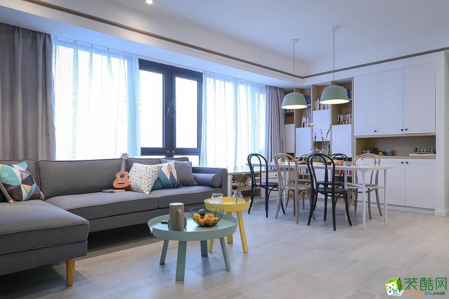 温商建筑装饰- 伊犁铜锣湾北欧两居室装修效果图