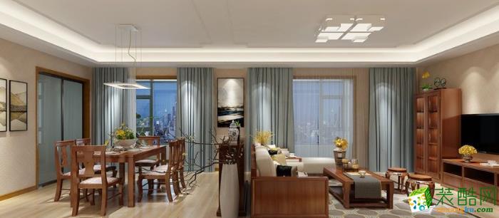 伊犁欧工装饰- 仁和白桦林居中式两居室装修效果图