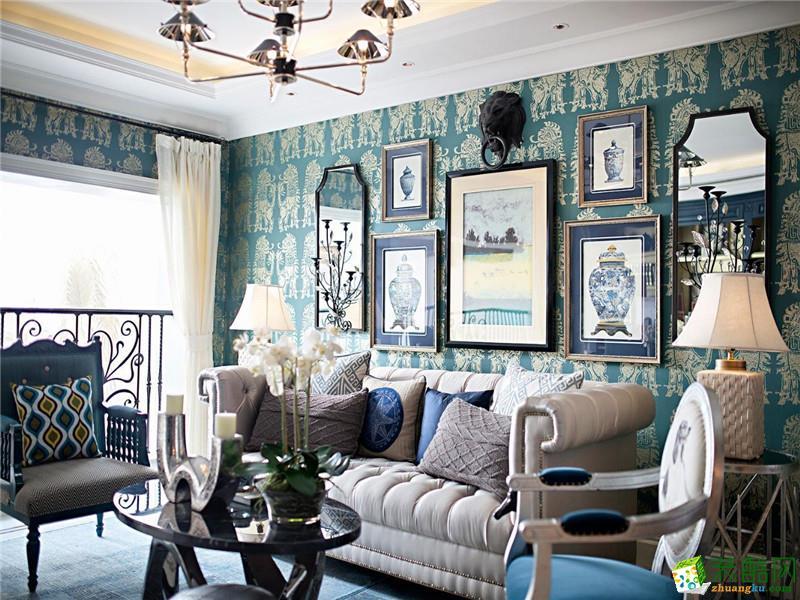 新中式风格133平米四室两厅装修效果图--轩辕装饰