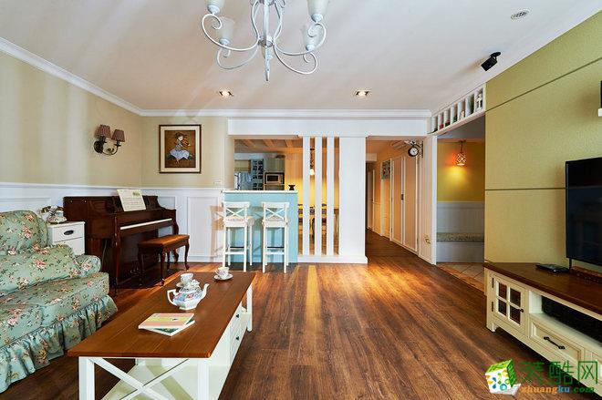 田园风格88平米两室两厅装修实景案例图--星艺装饰