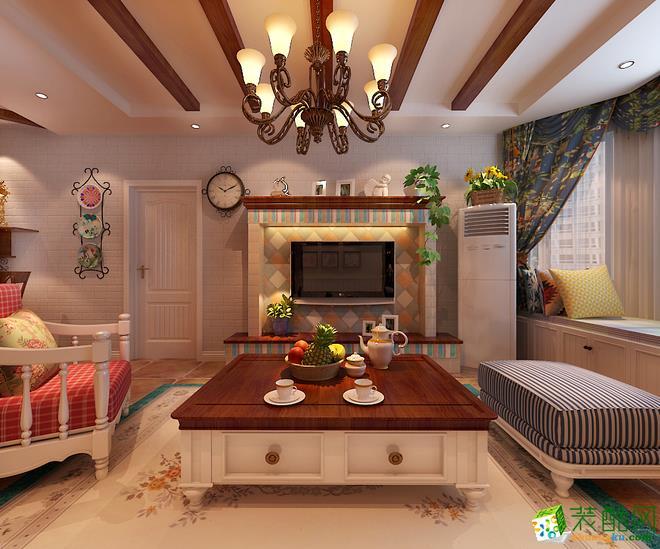 田园风格86平米三室一厅装修实景案例图--星艺装饰