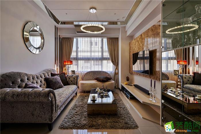 新古典风格73平米两室两厅装修效果图--星艺装饰