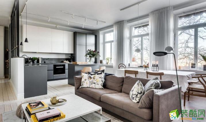 益阳市铭轩装饰-东方维也纳北欧两居室装修效果图