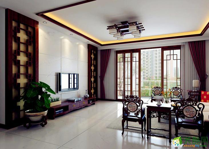 长沙红牛装饰-天麓尚层中式两居室装修效果图