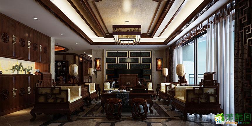 >> 中式风格150平米四室两厅装修实景案例图--交换空间装饰