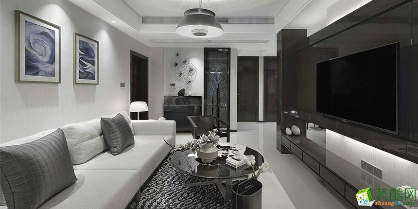 現代風格103平米三居室裝修實景案例圖--華潯品味裝飾